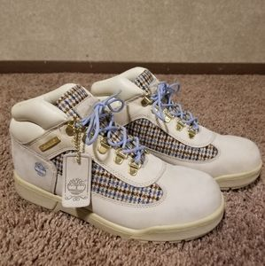 "Timberland boots ""plaid&suede"" /Sz 7"